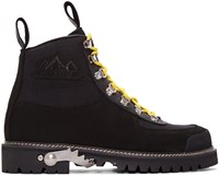 Off White Black Cordura Hiking Boots