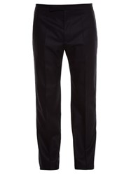 Maison Martin Margiela Straight Leg Flannel Trousers Black