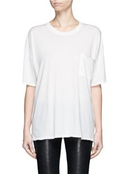 Rag And Bone 'The Big Tee' Pocket Oversized Cotton T Shirt White