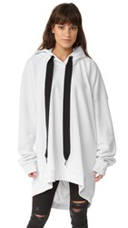 Marques Almeida Oversized Hoodie White