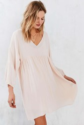 Little White Lies Cici Long Sleeve Babydoll Dress Nude
