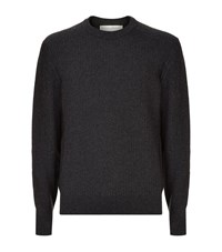 Gieves And Hawkes Cashmere Moss Stitch Jumper Male Charcoal