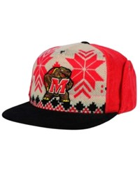 Top Of The World Maryland Terrapins Christmas Sweater Strapback Cap Red