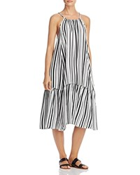 Minkpink Rivera Getaway Dress Swim Cover Up Black White