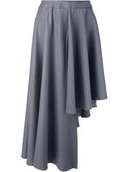 Max Tan Asymmetric Flared Skirt Grey