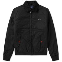 Fred Perry Wax Caban Jacket Black