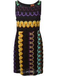 Missoni Crochet Knit Tank Dress Black