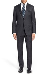 Men's Big And Tall Pal Zileri Classic Fit Solid Wool Suit Charcoal