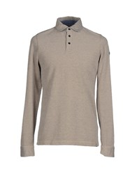 Napapijri Topwear Polo Shirts Men Light Grey