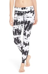 Alo Yoga Women's 'Airbrushed' Glossy Leggings White Tie Dye