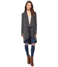 Lna Open Elbow Cardigan Charcoal Women's Sweater Gray