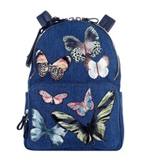 Valentino Camu Butterfly Backpack Female Blue