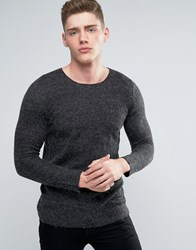 Lindbergh Jumper With Loose Mohair Knit In Grey Grey Navy