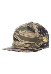 Diesel Camuny Cap Olive Camouflage