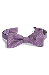 Men's Calibrate Micro Plaid Bow Tie Red Berry
