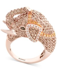Effy Diamond Elephant Ring 3 1 2 Ct. T.W. In 14K Rose Gold