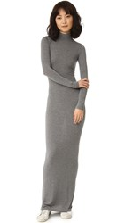 Gareth Pugh Long Mock Neck Dress Dark Grey