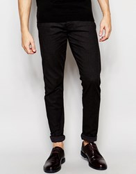 Selected Homme Trousers With Textured Jacquard In Skinny Fit Dark Gray