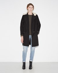 Mayle Caris Coat Black Ivory