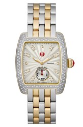 Women's Michele 'Urban Mini' 16Mm Two Tone Bracelet Watchband Silver Gold