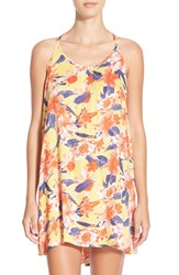 Junior Women's Rip Curl 'Tropic Wind' Print Cover Up Mustard