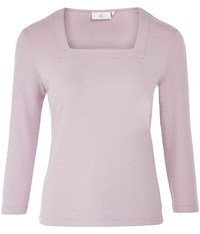 Cc Square Neck Basic Cotton Top Lilac