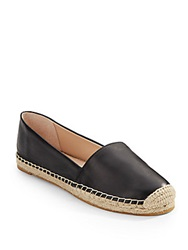 French Connection Sammy Leather Espadrilles Black