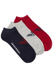 Emporio Armani Cotton Blend Socks Red