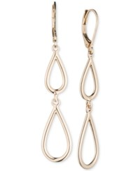 Nine West Teardrop Double Drop Earrings Gold