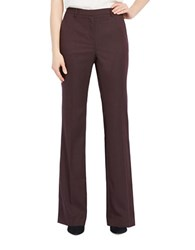 Ellen Tracy Solid Boot Cut Pants Red