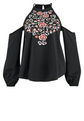 Abercrombie And Fitch Peasant Blouse Black