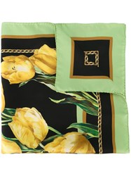 Dolce And Gabbana Tulip Print Scarf Multicolour