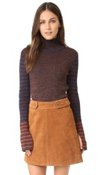 See By Chloe Turtleneck Pullover Burgundy
