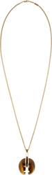 Chloe Brown Tiger Eye Marble And Gold Ellie Long Necklace