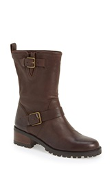 Cole Haan 'Hemlock' Moto Boot Women Chestnut Leather