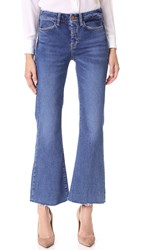 Mih Jeans Lou Cropped Flare Blue Fade
