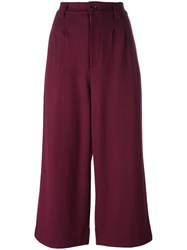 Tsumori Chisato 'Docking' Cropped Trousers Pink Purple