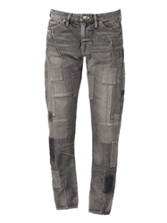 Anrealage Patchwork Slim Fit Jeans