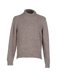 Gray Turtlenecks Khaki