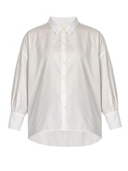Nili Lotan Fulton Cotton Poplin Shirt White