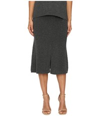 Cashmere In Love Tish Knit Skirt Grey
