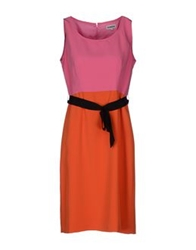 Dinou Knee Length Dresses Orange