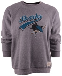 Retro Brand Men's San Jose Sharks Fleece Sweatshirt Gray
