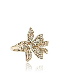 Accessorize Beth Crystal Flower Cocktail Ring