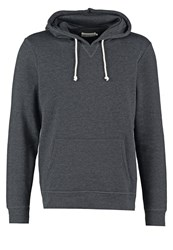 Pier One Hoodie Black Melange Mottled Black