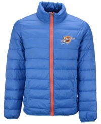G3 Sports Men's Oklahoma City Thunder Packable Quilted Jacket Blue Orange