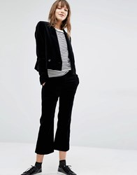 Paul Smith Ps By Velvet Cropped Trousers 79 Black