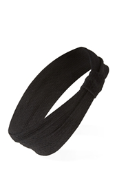 Forever 21 Knot Detail Textured Headwrap Black