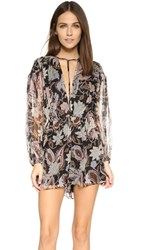 Zimmermann Henna T Bar Romper Black Floral