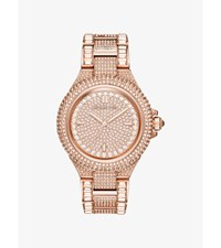 Camille Pave Rose Gold Tone Watch